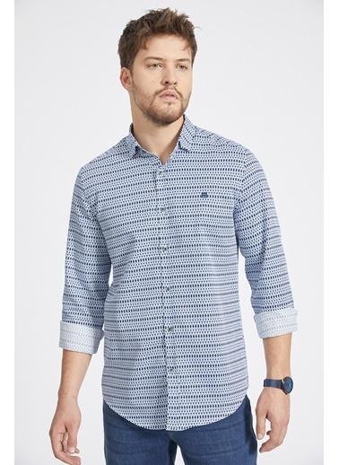 Avva Erkek  Baskılı Gömlek A02Y2106 Mavi